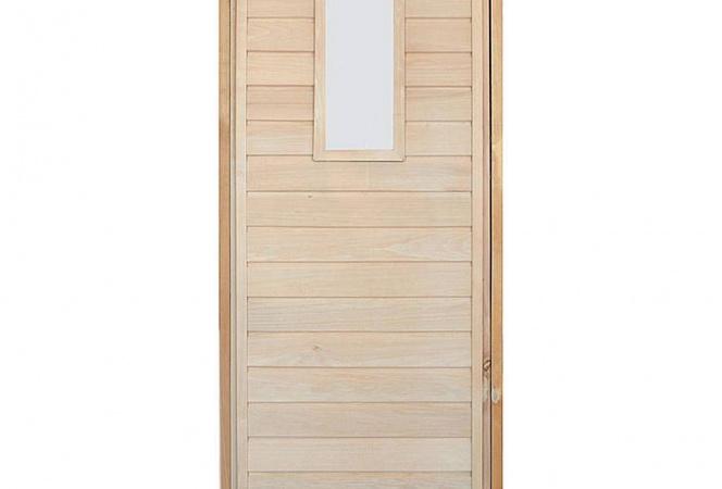 Дверь банная глухая с коробкой 60x690x1800